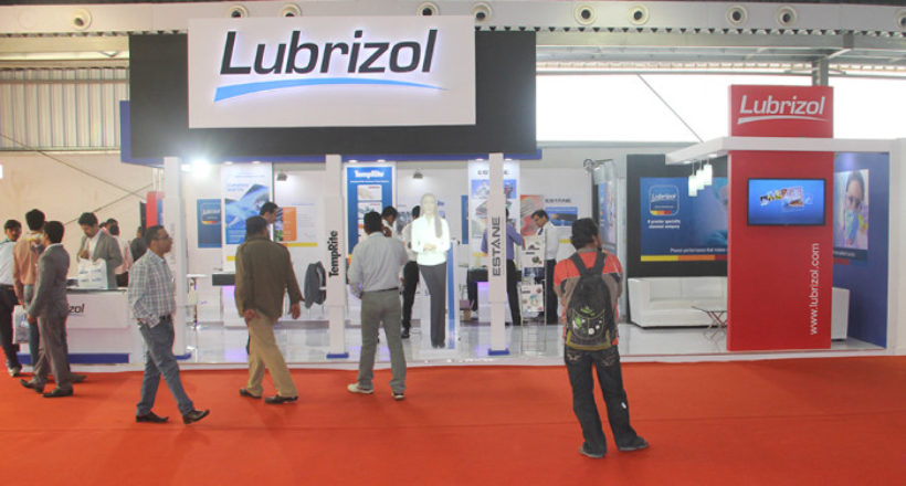Lubrizol event exhibition stall at Ahmedabad