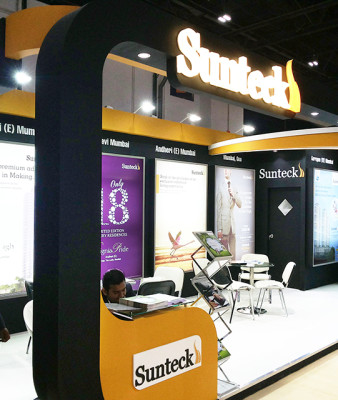 Suntech exhibition stall designing