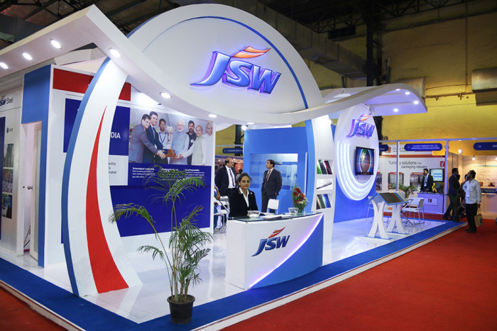exhibition stall design of JSW