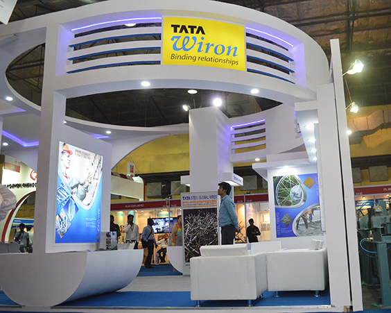 Tata Steel - Wire & Cable stall fabrication on mumbai
